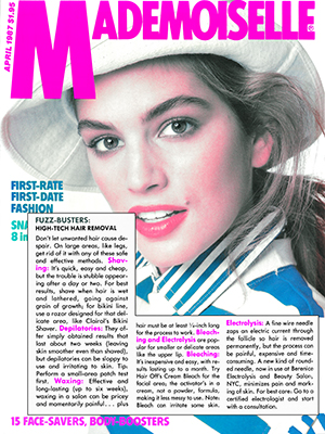 MADEMOISELLE MAGAZINE - April 1987 - Cindy Crawford