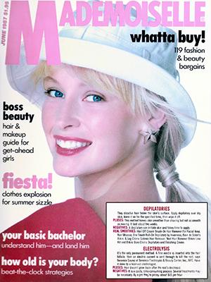 MADEMOISELLE MAGAZINE - June 1987 - Estelle Lefebure