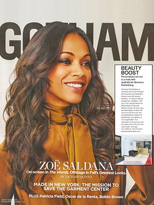 GOTHAM MAGAZINE - September 2012 - Zoe Saldana