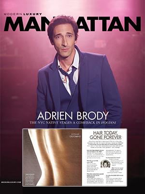 MODERN LUXURY MANHATTAN MAGAZINE - April 2014 - Adrien Brody